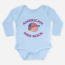 AMERICAN Kids Rock Long Sleeve Infant Bodysuit