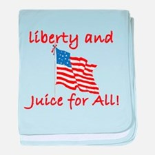 Liberty and Juice for All baby blanket