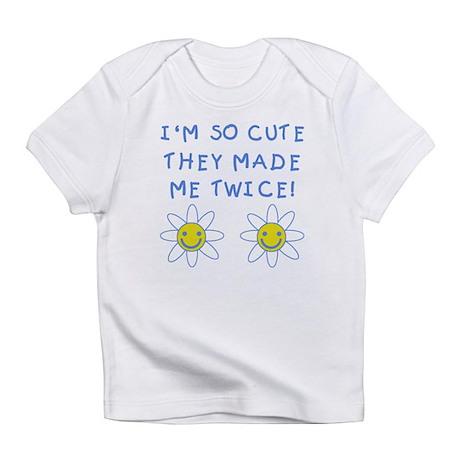 So Cute Made Twice TWINS Infant T-Shirt