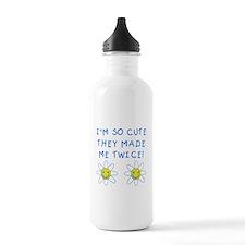 So Cute Made Twice TWINS Water Bottle