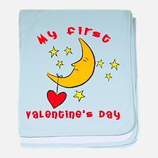 My First Valentine's Day baby blanket