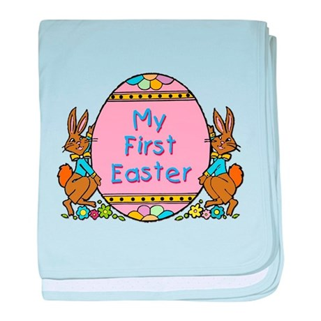 First Easter with Egg baby blanket