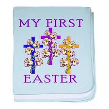Christian 1st Easter baby blanket