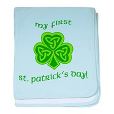 My First St Patricks Day baby blanket