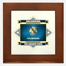 Oklahoma Flag Framed Tile