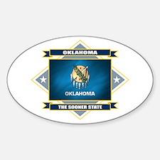 Oklahoma Flag Sticker (Oval)