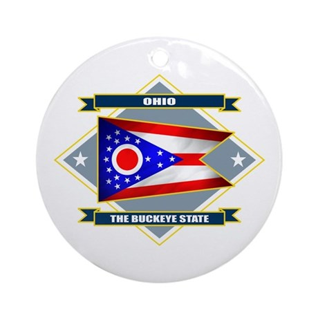 Ohio Flag Ornament (Round)