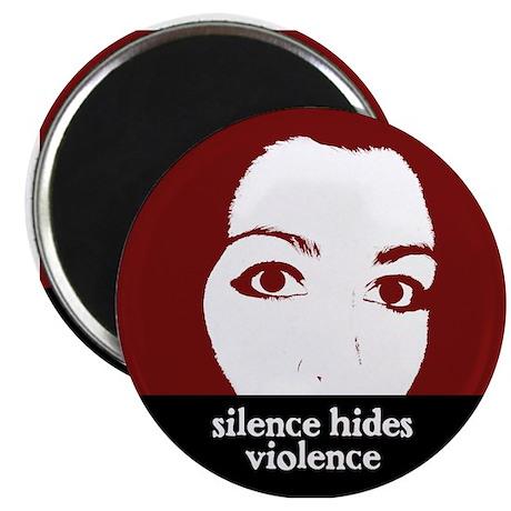 """Silence Hides Violence 2.25"""" Magnet (10 pack)"""
