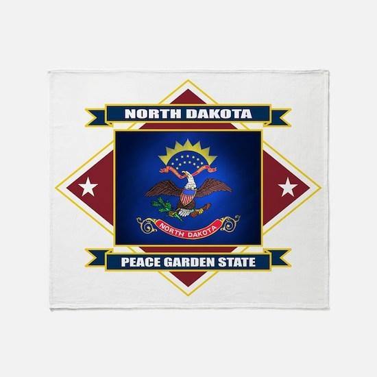 North Dakota Diamond Throw Blanket