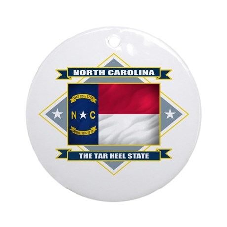 North Carolina Flag Ornament (Round)