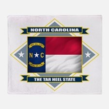 North Carolina Diamond Throw Blanket