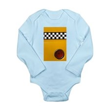 Checker Cab No.1 Long Sleeve Infant Bodysuit