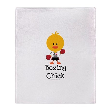 Boxing Chick Throw Blanket