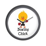 Boxing Chick Wall Clock