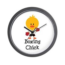 Boxing Chick Wall Clock