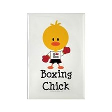 Boxing Chick Rectangle Magnet