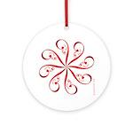 Eshgh (Love) Flower 1 Ornament (Round)