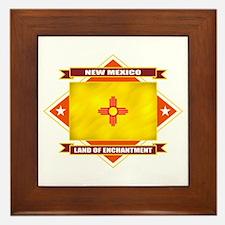 New Mexico Flag Framed Tile