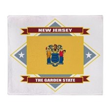 New Jersey Diamond Throw Blanket