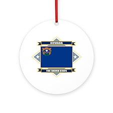 Nevada Flag Ornament (Round)