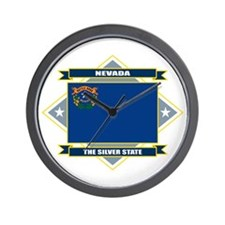 Nevada Flag Wall Clock