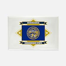 Nebraska Flag Rectangle Magnet