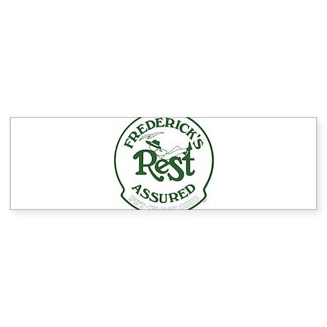 Cottage Brand: Rest Assured Sticker (Bumper)