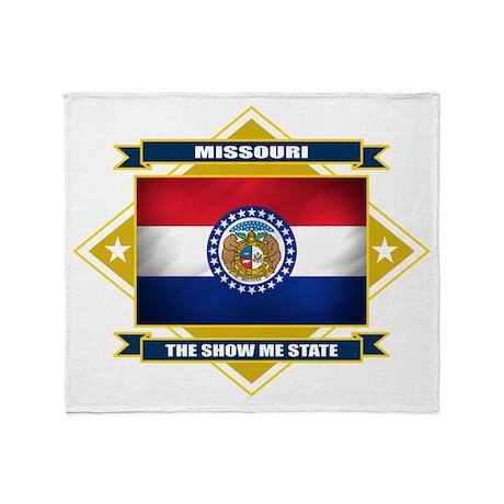 Missouri Diamond Throw Blanket