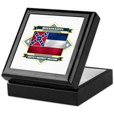 Mississippi Flag Keepsake Box