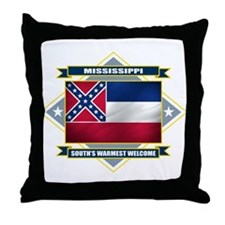 Mississippi Flag Throw Pillow
