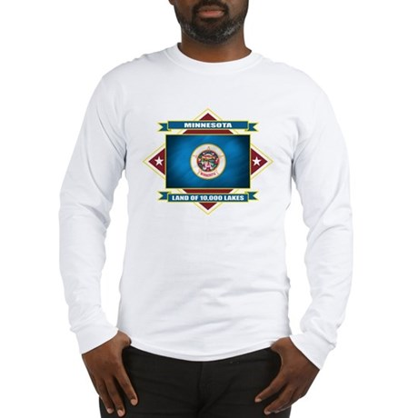Minnesota Flag Long Sleeve T-Shirt