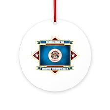 Minnesota Flag Ornament (Round)