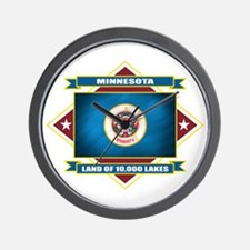Minnesota Flag Wall Clock