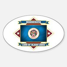 Minnesota Flag Sticker (Oval)