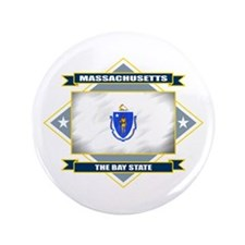 "Massachusetts Flag 3.5"" Button"