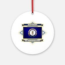 Kentucky Flag Ornament (Round)