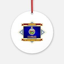 Kansas Flag Ornament (Round)