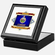 Kansas Flag Keepsake Box