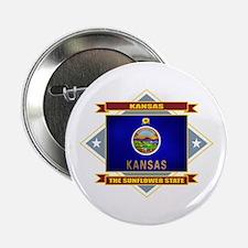 """Kansas Flag 2.25"""" Button"""