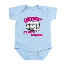Leather! It's What's for Dinn Infant Bodysuit