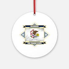 Illinois Flag Ornament (Round)