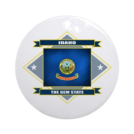 Idaho Flag Ornament (Round)