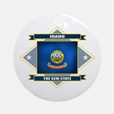 Idaho Flag Ornament (Round)