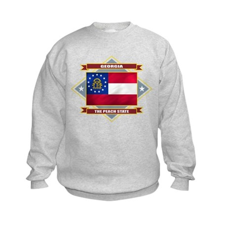 Georgia Flag Kids Sweatshirt