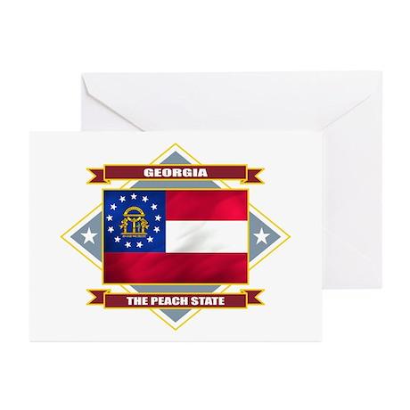 Georgia Flag Greeting Cards (Pk of 10)