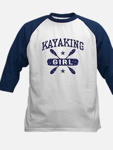 Kayaking Girl Kids Baseball Jersey