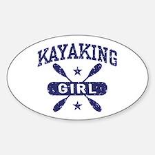 Kayaking Girl Sticker (Oval)