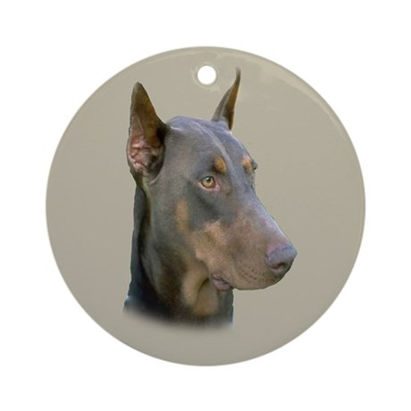 Doberman Ornament (Round)