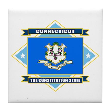 Connecticut Flag Tile Coaster