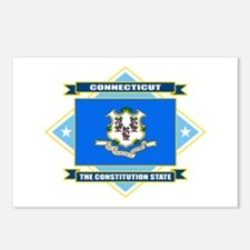 Connecticut Flag Postcards (Package of 8)